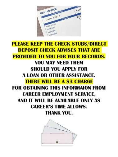 Keep Your Check Stubs! image