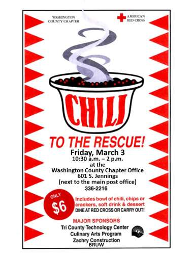 Red Cross Chili to the Rescue Tickets Available! image