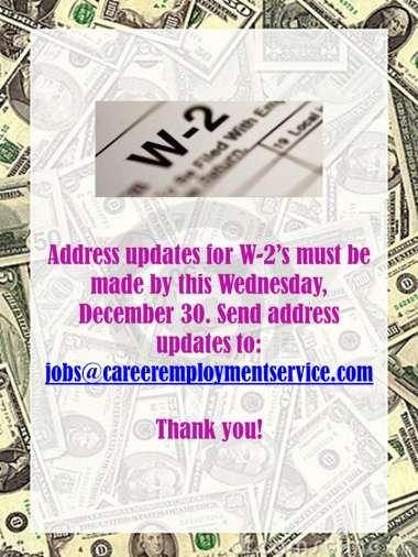 W-2 Address Updates image