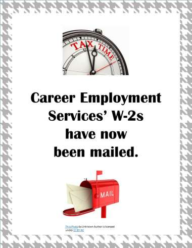 W-2s Have Been Mailed! image